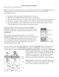 weathering and soil formation worksheet answers 28 images soil
