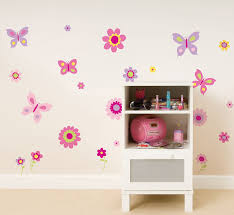 fun4walls butterfly and flowers wall decals walmart com