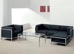 Large Black Leather Corner Sofa Extra Large 8 Seater Black Leather Corner Sofa Tub Chair And