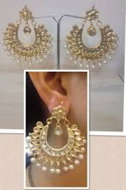 online earrings moti bali earrings pearl chand bali online shopping craftsvilla