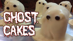 ghost cakes halloween easy and fun treat youtube
