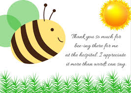 thank you notes thank you note wording for hospital visit