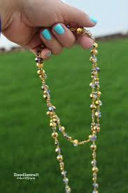 long gold beads necklace images Doodlecraft may 2015 JPG