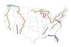 Lake Sakakawea Map National Scenic Trails Added To Revised Michigan Maps