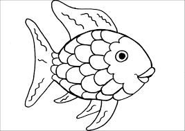 rainbow fish outline free coloring pages on art coloring pages