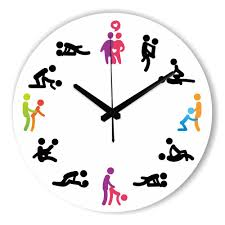 modern design kama sutra position wall clock for bedroom wall