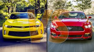 mustang or camaro 2016 chevrolet camaro vs 2016 ford mustang
