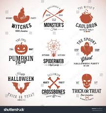 vintage halloween flyer background vintage typography halloween vector badges logos stock vector