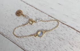 personalized baby bracelet birthstone jewelry initial