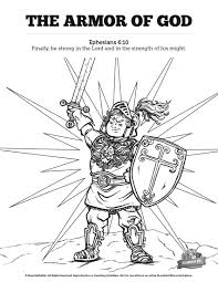 ephesians 6 the armor of god sunday coloring pages your