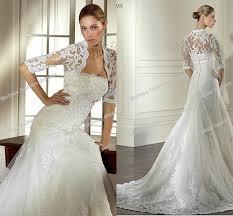 lace wedding dress with jacket plus size 3 4 sleeve wedding dress fashion dresses