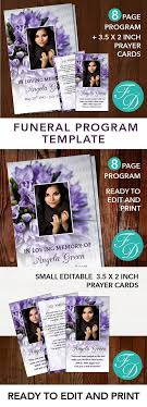 print funeral programs purple printable funeral program ready to edit print with