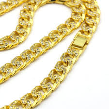 diamonds gold necklace images Wholesale micro angel red stone cuban link chain 3 necklace set jpg