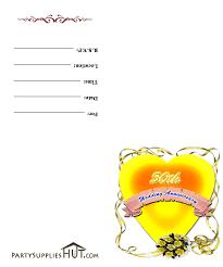 free printable 50th wedding anniversary invitations the wedding