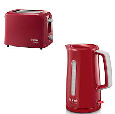 Bosch Toasters Bosch Tat3a014gb 2 Slice Toaster U0026 Twk3a034gb Cordless Kettle Pack