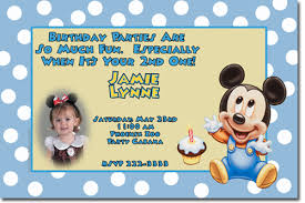 Mickey Mouse 1st Birthday Card Mickey Mouse Birthday Invitations Candy Wrappers Thank You Cards