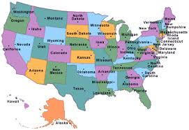 map of us states by world list of us states with a map and their capital flag governor and
