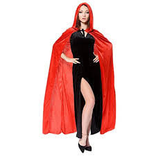 womens halloween witch velvet hooded cloak costumes wizard party