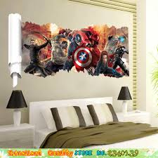 online buy wholesale marvel wall decals from china marvel wall marvel avengers wall sticker superhero poster wall decals home living room boys bedroom mural art christmas