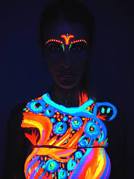 amazon com neon glow blacklight body paint 1 premium set 6