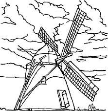 Free Rainy Day Coloring Sheets Windmills On Cloudy Pages Batch Rainy Day Coloring Pages