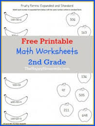 math worksheets for 2nd grade free printables the happy