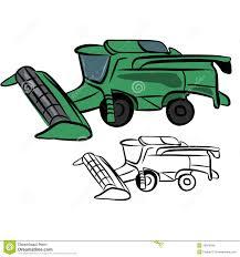 combine harvester stock vector image 39973346