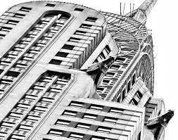 chrysler art deco building manhattan nyc new york city black and