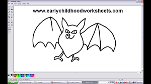 how to draw cartoons bats easy step by step for kindergarten kids