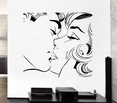 Modern Wall Stickers For Living Room Online Get Cheap Couple Kissing Sticker Aliexpress Com Alibaba