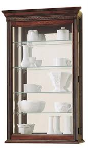 cherry curio cabinets cheap wall display cabinet w 4 adjustable shelves mirrored back cherry