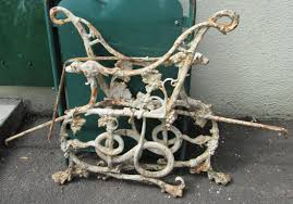 wrought iron bench ends wrought iron coalbrookdale victorian serpent dog and vine bench ends