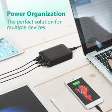 How To Make A Charging Station Amazon Com Ravpower 60w 12a 6 Port Usb Charger Desktop Charger