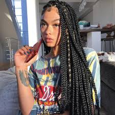 what kind hair use boxbraids 14 dope box braids hairstyles to try allure