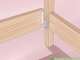 Platform Queen Or King Bed Woodworking Plans Patterns by 3 Ways To Build A Wooden Bed Frame Wikihow