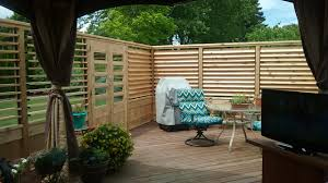 large cozy deck with louvered fence made with flex u2022fence i