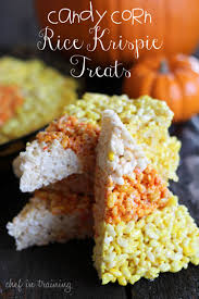 candy corn rice krispie treats chef in training