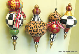 Large Christmas Decorations Commercial by Hand Painted Christmas Ornaments Whimsical Diy Large Paper Mache