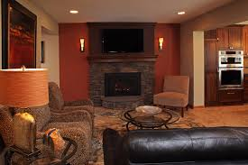 image result for fireplace tv wall sconce living room