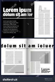 letter black modern magazine layout template stock vector