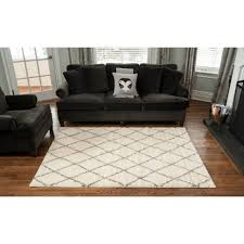 Area Rug White Living Room Lounge Room With Elegant Round White Modern