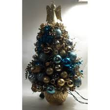 and gold pre decorated mini tree