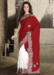 maroon dresses for wedding buy maroon and white velvet and net half and half wedding