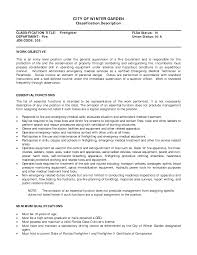 Firefighter Resume Examples by Entry Level Emt Resume Template