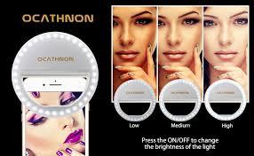 lights when phone rings amazon com ocathnon ring lights for iphone selfie ring light 36 led