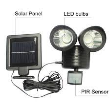 22 led solar wall l light high power outdoor waterproof