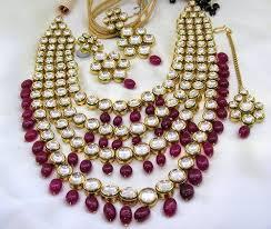 stone necklace set designs images Designer ruby drops kundan stone long necklace set kundan set jpg