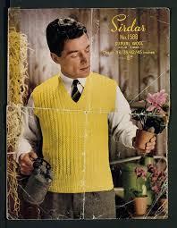 men on vintage knitting patterns flashbak