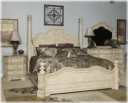 amazon com ashley ortanique king poster bed old world in white