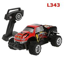 remote control monster jam trucks wltoys l343 1 24 2 4g electric brushed 2wd rtr rc monster truck
